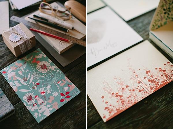 Προσκλητηρια γαμου σε floral σχεδια
