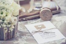 Ρουστικ προσκλητηριο γαμου