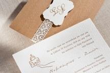 Προσκλητηρια γαμου με δαντελα βελωνακι