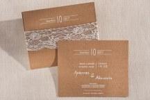 Προσκλητηριο γαμου με κραφτ χαρτι