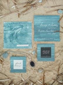 Προσκλητηριο γαμου με θεμα την θαλασσα