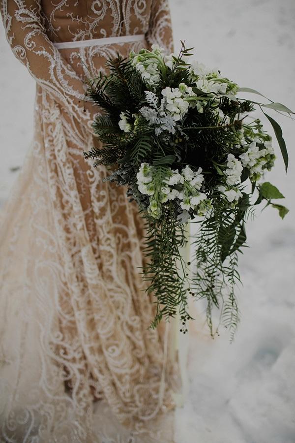 Νυφικη ανθοδεσμη για χειμωνιατικο γαμο