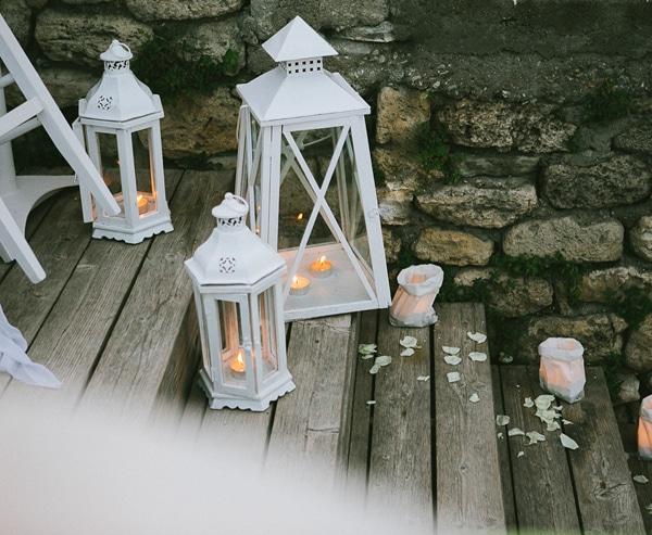 Στολισμος δεξιωσης γαμου με κερακια