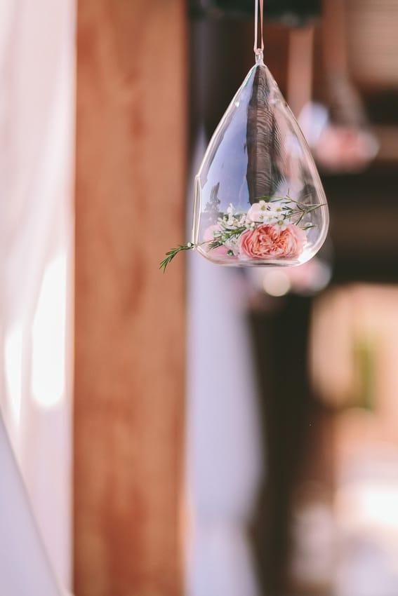 Στολισμος δεξιωσης γαμου με βαζακια