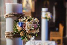 Ανθοστολισμος λαμπαδας γαμου