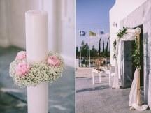 Ρομαντικη διακοσμηση λαμπαδας