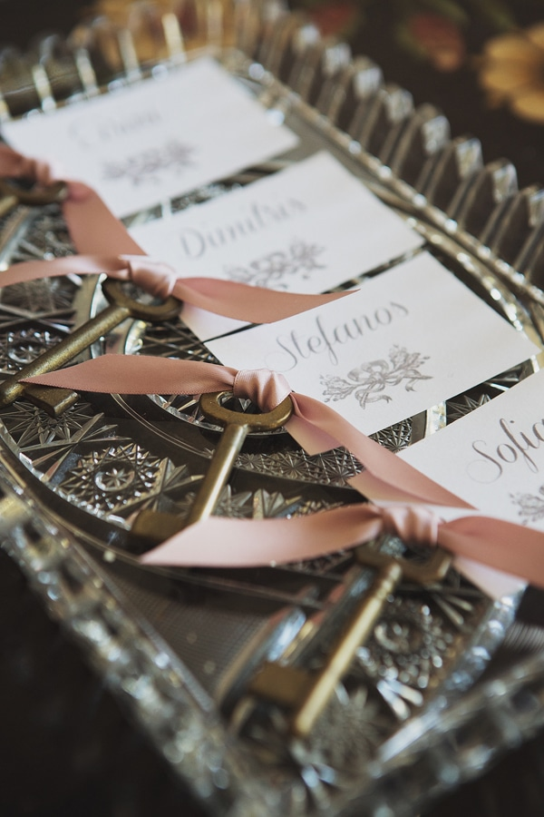 Escort cards with keys