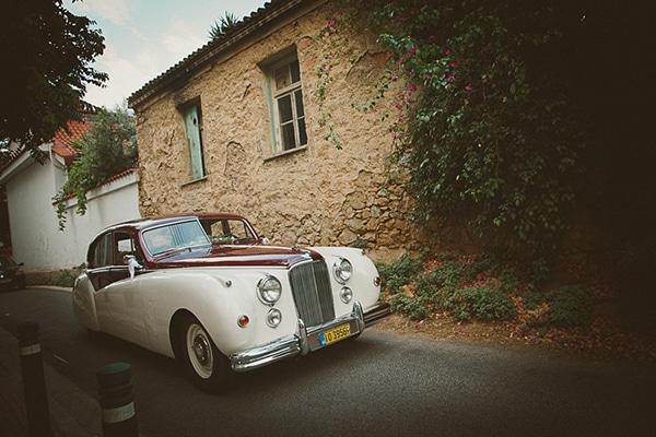 Vintage αυτοκινητο γαμου