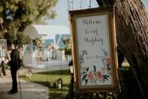 Vintage πινακιδα γαμου
