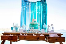 Τιρκουαζ dessert table