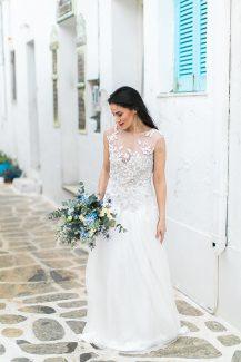 Νυφική ανθοδέσμη για γάμο σε νήσι