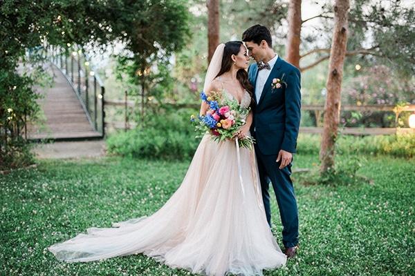 Boho γαμος με πολυχρωμα λουλουδια | Στεφανη & Παναγιωτης