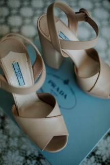 Prada nude νυφικα παπουτσια