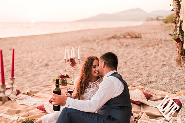 Μοναδική boho φωτογράφιση στην παραλία | Άρτεμις & Δημήτρης