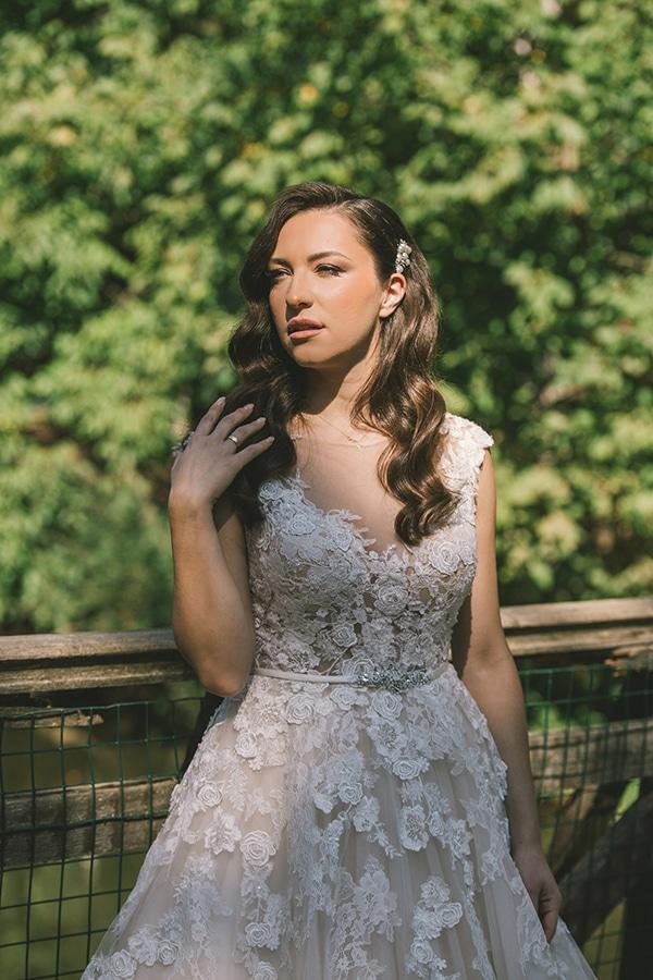 Wavy χτένισμα νύφης