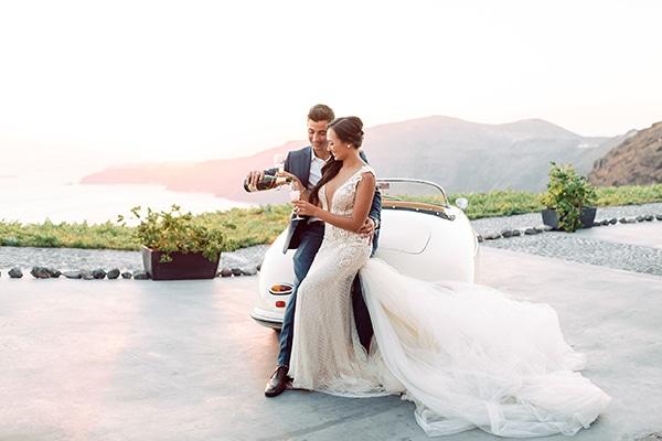 Boho chic γαμος στη Σαντορινη