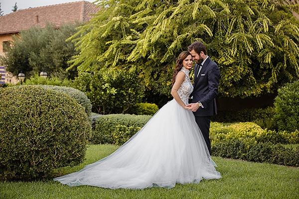Ρομαντικος γαμος με κυριαρχο χρωμα το λευκο | Ελενα & Θανος