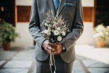 Ανθοδεσμη νυφης με αγριολουλουδα