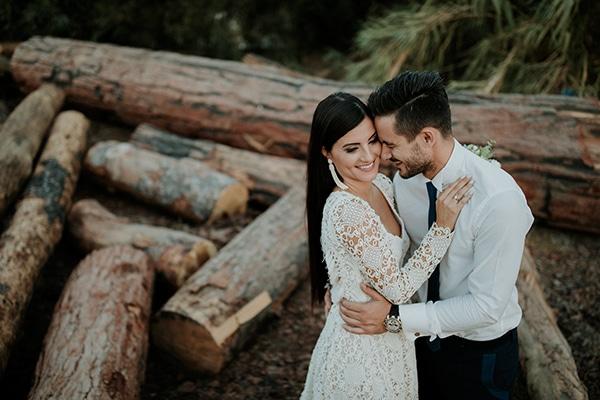 Πανεμορφος γαμος σε γκρι και ροζ χρυσους τονους | Ολγα & Νικολας