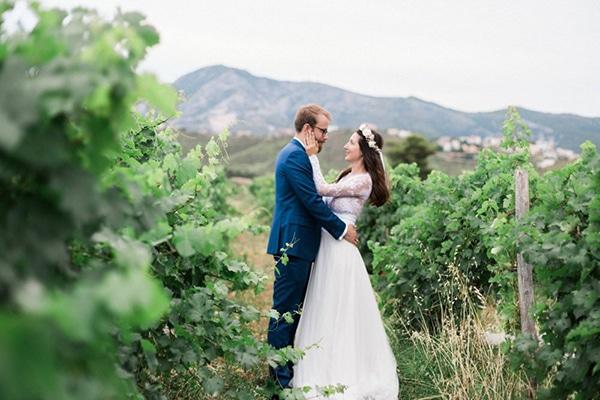 Πανέμορφος rustic γάμος σε ροζ κίτρινες και peach αποχρώσεις | Δώρα & Johan