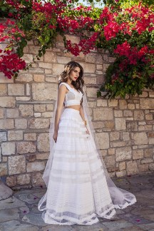 Atelier Zolotas two-piece νυφικο φορεμα