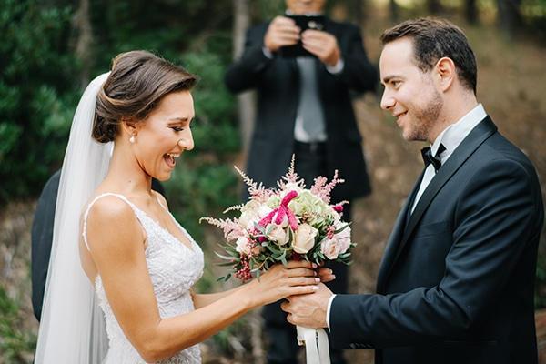 Όμορφος φθινοπωρινός γάμος με ρομαντικά χρώματα  | Κατερίνα & Γιώργος