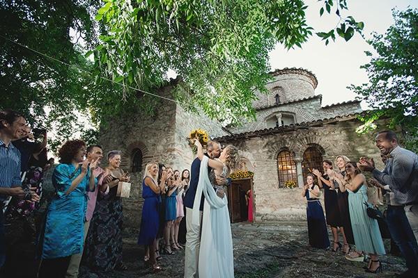 Ομορφος γαμος με ηλιανθους | Ζωη & Πανος