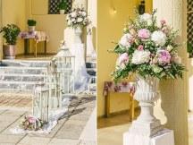 Στολισμος εκκλησιας σε ροζ – λευκο