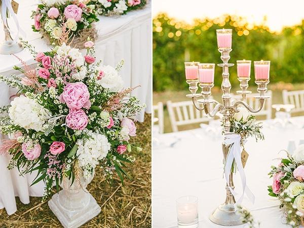 Στολισμος δεξιωσης σε ροζ – λευκο