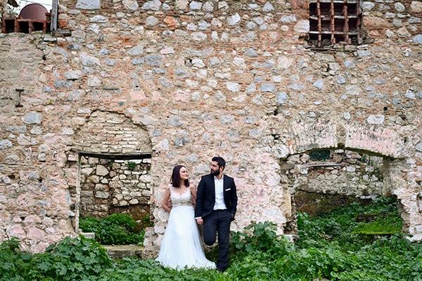Φθινοπωρινός γάμος με απαλές αποχρώσεις θήβα| Δάφνη & Βαγγέλης
