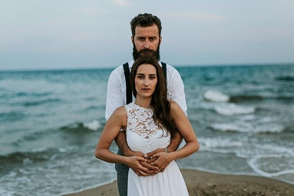 Ρουστικ γαμος στη Θεσσαλονικη με μπεζ αποχρωσεις | Ελενη και Μενελαος