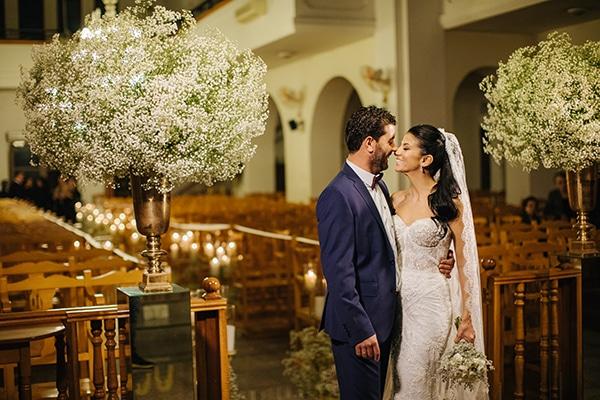 Χειμωνιάτικος γάμος με χρυσές και λευκές αποχρώσεις | Γιάννα & Κωνσταντίνος