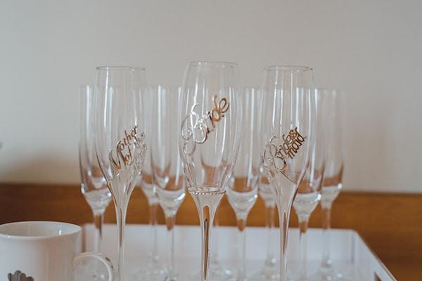 Custom made ποτηρια για σαμπανια