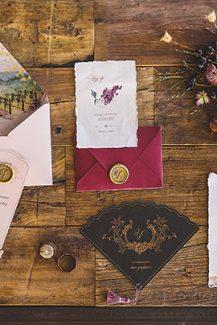Προσκλητηρια γαμου με θεμα winery wedding