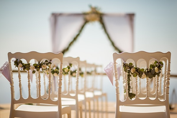 Ρομαντικος στολισμος τελετης γαμου