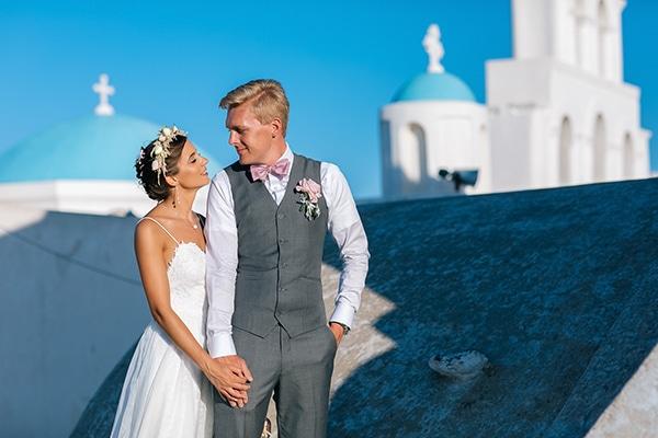 Υπέροχος γάμος στη Σαντορίνη