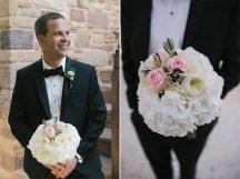 Νυφικο μπουκετο με λευκα λουλουδια