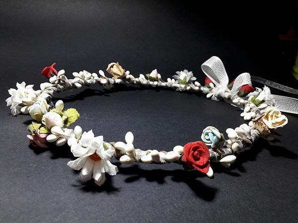 Στεφανα γαμου με λουλουδια