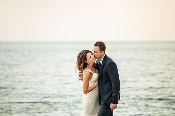 Υπέροχος ρομαντικός γάμος με κυρίαρχο χρώμα το λευκό | Λίντα & Δημήτρης