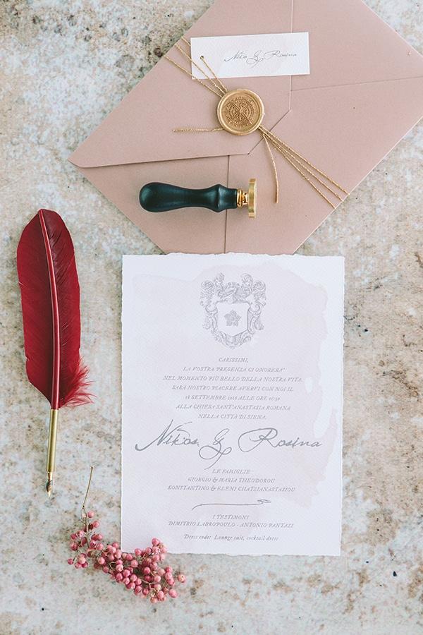 Προσκλητήρια γάμου με βουλοκέρι