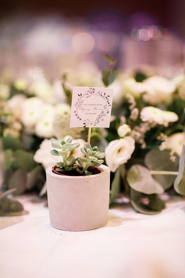 Μπομπονιέρα γάμου – γλάστρα με παχύφυτο