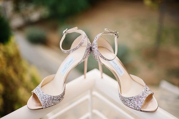 Glamorous glitter bridal shoes