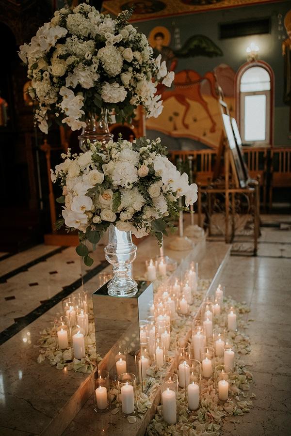 Luxurious στολισμος εκκλησιας γαμου