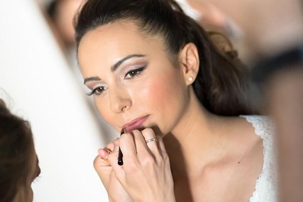 Νυφικό μακιγιάζ για καστανές