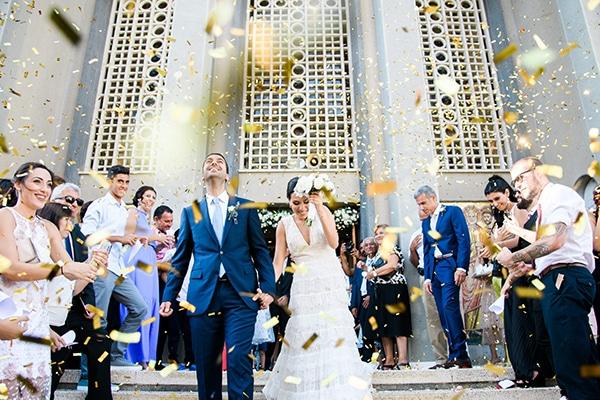 Ρομαντικός γάμος με λευκά λουλούδια | Ιωάννα & Joseph