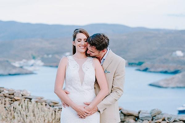 Ρουστίκ γάμος με φυσικά χρώματα στην Κύθνο