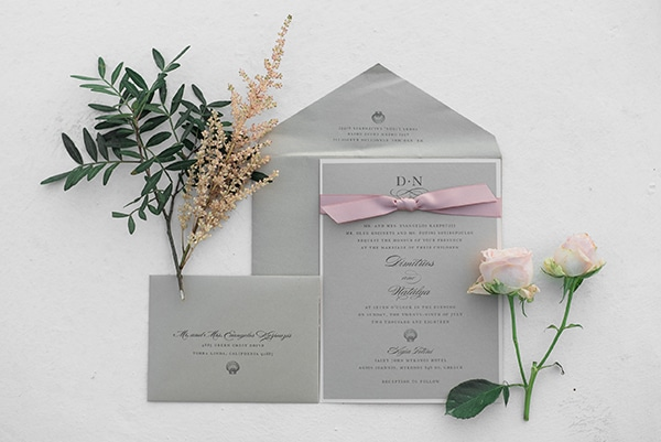 Προσκλητηρια γαμου για εναν elegant γαμο