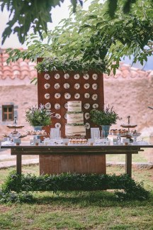 Dessert table and donuts wall