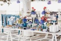 Στολισμος στο χωρο δεξιωσης γαμου με νησιωτικο στυλ
