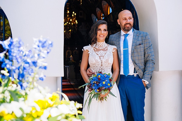 Bohemian chic γαμος με μπλε και λευκες αποχρωσεις | Ευη & Γιωργος